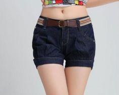 shorts cortos de moda de colores 3