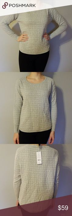 🦋NWT French Connection Long Sleeve Gray Sweater🦋 French Connection Waffle-knit raglan pullover sweater🐨 Light gray🐧  💕Make me an offer 💕 Bundle & Save 💕 15% off of 2 or more items 💕 French Connection Tops Tees - Long Sleeve