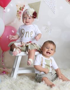 Twins Happy first birthday boys Cant wait for your cake smash
