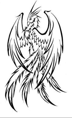 simple phoenix   Would you be so kind as to draw me a tattoo? - Imgur