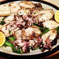 Grilled Calamari - Authentic Greek Recipe