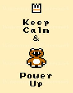 Video Game Art Print  Keep Calm and Power Up  by arcadecache, $10.95