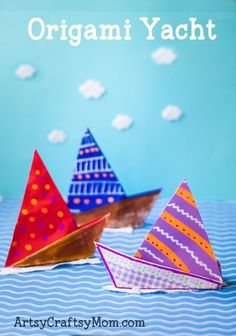 Origami, the art of folding paper, can range from simple crafts to complex creations. Here is a simple Origami Yacht craft for kids to make.
