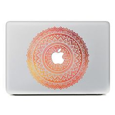 "awesome iCasso Mandala Detachable Vinyl Decal Sticker Skin for Apple Macbook Pro Air Mac thirteen"" inch / Unibody thirteen Inch Notebook (Yellow Pink)"