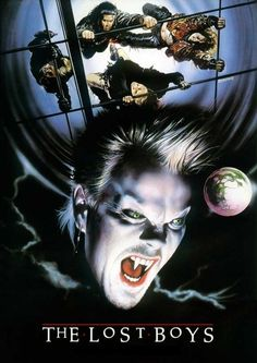 """The Lost Boys"" (1987) directed by Joel Schumacher, starring Jason Patric, Corey Haim, Dianne Wiest"
