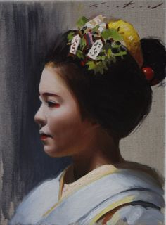 Geisha art and artwork by Phil Couture.  Realistic Japanese oil paintings and drawings of Japan.