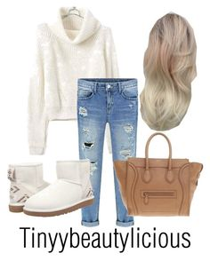 """""""Untitled #331"""" by tinyybeautylicious on Polyvore featuring UGG Australia and CÉLINE"""