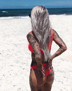 Tattooed girl Shady Brady