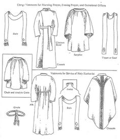 Clergy Vestments for Morning Prayer, Evening Prayer, and Occasional Offices