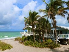 Little Gasparilla Island cottage rental - Peacock Lane Cottage is one of the closest cottages to the Gulf Florida Travel, Florida Beaches, Little Gasparilla Island, Key West Style, Beach Cottages, Beach Houses, Dream Vacations, Places To See, Tropical