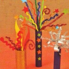 Spectacular Firework Fiesta, Bonfire Night Craft Ideas Step by step guide to create a craft firework display using pipe cleaners and cardboard tubes Bonfire Night Activities, Bonfire Night Crafts, Autumn Activities, Craft Activities, Bonfire Night Ks1, New Year's Crafts, July Crafts, Crafts For Kids, Arts And Crafts