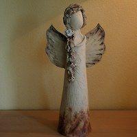 Prodané zboží uživatele Inspirace-Renata   Fler.cz Paper Clay, Clay Art, Clay Angel, Pottery Angels, Art Assignments, Kids Clay, Handmade Angels, Ceramic Angels, Clay Fairies