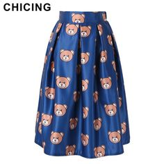 Cute Mos Cartoon Bear Print Midi Fluffy Skirt Only $22.99 => Save up to 60% and Free Shipping => Order Now! #Skirt outfits #Skirt steak #Skirt pattern #Skirt diy #skater Skirt #midi Skirt #tulle Skirt #maxi Skirt #pencil Skirt