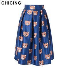 Cute Mos Cartoon Bear Print Midi Fluffy Skirt Only $22.99 => Save up to 60% and Free Shipping => Order Now! #Skirt outfits #Skirt steak #Skirt pattern #Skirt diy #skater Skirt #midi Skirt #tulle Skirt #maxi Skirt #pencil Skirt