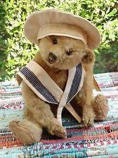 Antique Steiff Gold Mohair Teddy Bear 12 inches tall Button in ear C.1907