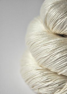 dye for yarn - ghost:  natural undyed very pale cream - silk yarn - lace weight