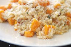 butternut squash risotto -- Never tried this but I heard it was really good...and healthy for you