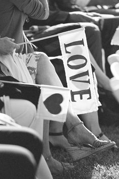 wave Love Flags