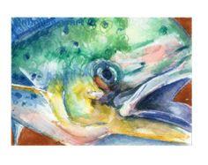 Aquarell Fisch drucken. Bunte Fische Wandkunst. von SnoogsAndWilde