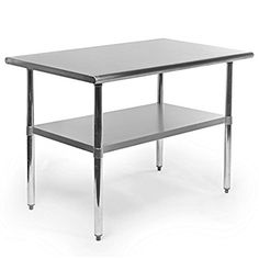 Gridmann NSF Stainless Steel Commercial Kitchen Prep & Work Table - 48 in. x 30 in.