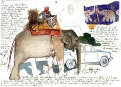 Stefano Faravelli (www. Moleskine Sketchbook, Travel Sketchbook, Artist Sketchbook, Sketch Journal, Artist Journal, Watercolor Journal, Watercolour, Sketchbook Inspiration, Urban Sketching