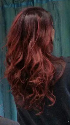 deep purple to red hair