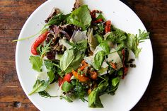 For leftover roasted peps/veg? | Marinated Pepper Salad with Basil, Capers & Pecorino, a recipe on Food52