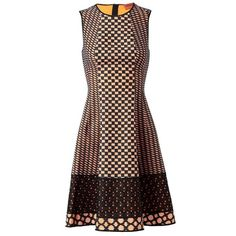 MISSONI Checked-Effect Knitted Dress ($1,465) ❤ liked on Polyvore