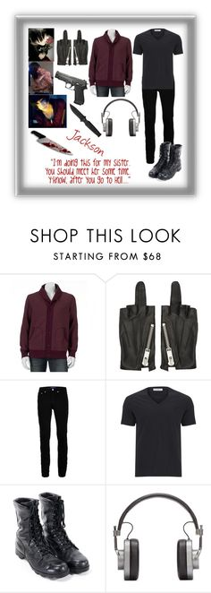 """""""Creepy Pasta OC: Jack"""" by the-real-fangirl-trash ❤ liked on Polyvore featuring SONOMA Goods for Life, 99%IS, Topman, Versace, Master & Dynamic, men's fashion and menswear"""