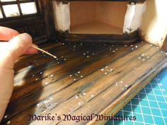 make the 'nails' from little drops of glue. When the drops are almost dry, flatten them. Then when dry, paint them.