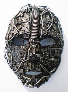 Techno masks by Richard Symons ( John, 2011)