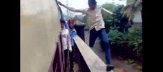 [uNt] Super Dangerous Stunt by local boys in train