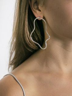 Elongated Squiggle Earrings by Holly Ryan