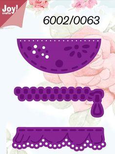 Joy Crafts - Die - Pocket / Ruffle Flap / Zipper,$13.49