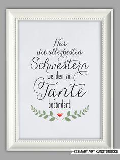 """""""BESTE TANTE"""" Kunstdruck, Geschenk von SMART ART Kunstdrucke ® auf DaWanda.com"""
