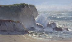 Silver Morning by Kathleen Dunphy Oil ~ 14 x 24