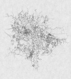 Kathy Prendergast, City Drawings Series (Addis Ababa), pencil on paper 31 x 21 cm Irish Painters, Painter Artist, Artist Work, City Drawing, Aerial Images, Irish Art, Black And White Drawing, Sculpture, Plans