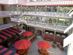View of courtyard from 3rd floor balcony, The Inlet Sports Lodge - Murrells Inlet, SC