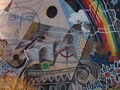 Walter-Womacka-Mosaiken in Berlin-Marzahn Berlin, Public Art, My Favorite Color, Contemporary Art, Abstract Art, Pink Things, Painting, Dreams, Travel