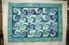 storm at sea wth snail trail quilt - - Yahoo Image Search Results Ocean Quilt, Beach Quilt, Blue Quilts, Mini Quilts, Batik Quilts, Star Quilts, Quilting Projects, Quilting Designs, Quilting Ideas
