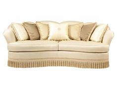 Curved Sofa With Fringe Seat Cushions Curved Sofa Fringe