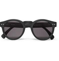 Illesteva Leonard Round-Frame Acetate Sunglasses   MR PORTER