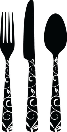 Decorative Cutlery Vinyl Decals