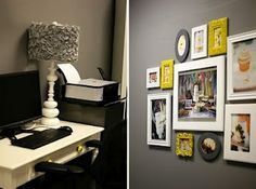 Yellow and grey frame gallery