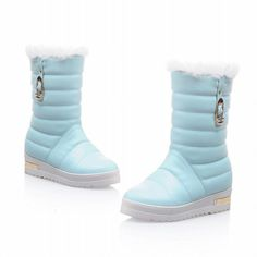 Show Shine Women's Fashion Sweet Platform Mid Calf Boots Snow Boots * Be sure to check out this awesome product. This Amazon pins is an affiliate link to Amazon.