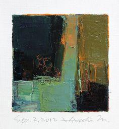 Sep 2 2012 Original Abstract Oil Painting by hiroshimatsumoto, $60.00