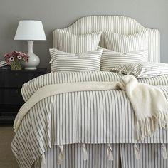 Ticking Stripe Duvet - Navy   Ballard Designs