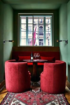 Color Schemes for Interior Design and decoration. Look for inspiration, design t… Color Schemes for Interior Design and decoration. Look for inspiration, design tips, color schemes, and more! Home Design, Red Interior Design, Restaurant Interior Design, Contemporary Interior Design, Cafe Interior, Küchen Design, Design Ideas, Luxury Interior, Design Projects
