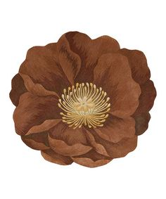 Take a look at this Brick Wool Blooms Rug by Nourison on #zulily today!