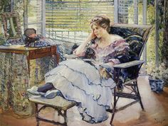 The Athenaeum - MILLER, Richard Emil American Impressionist (1875-1943)_Reverie - 1913